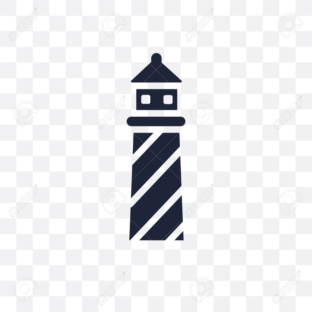 Lighthouse Transparent Icon Lighthouse Symbol Design From Nautical