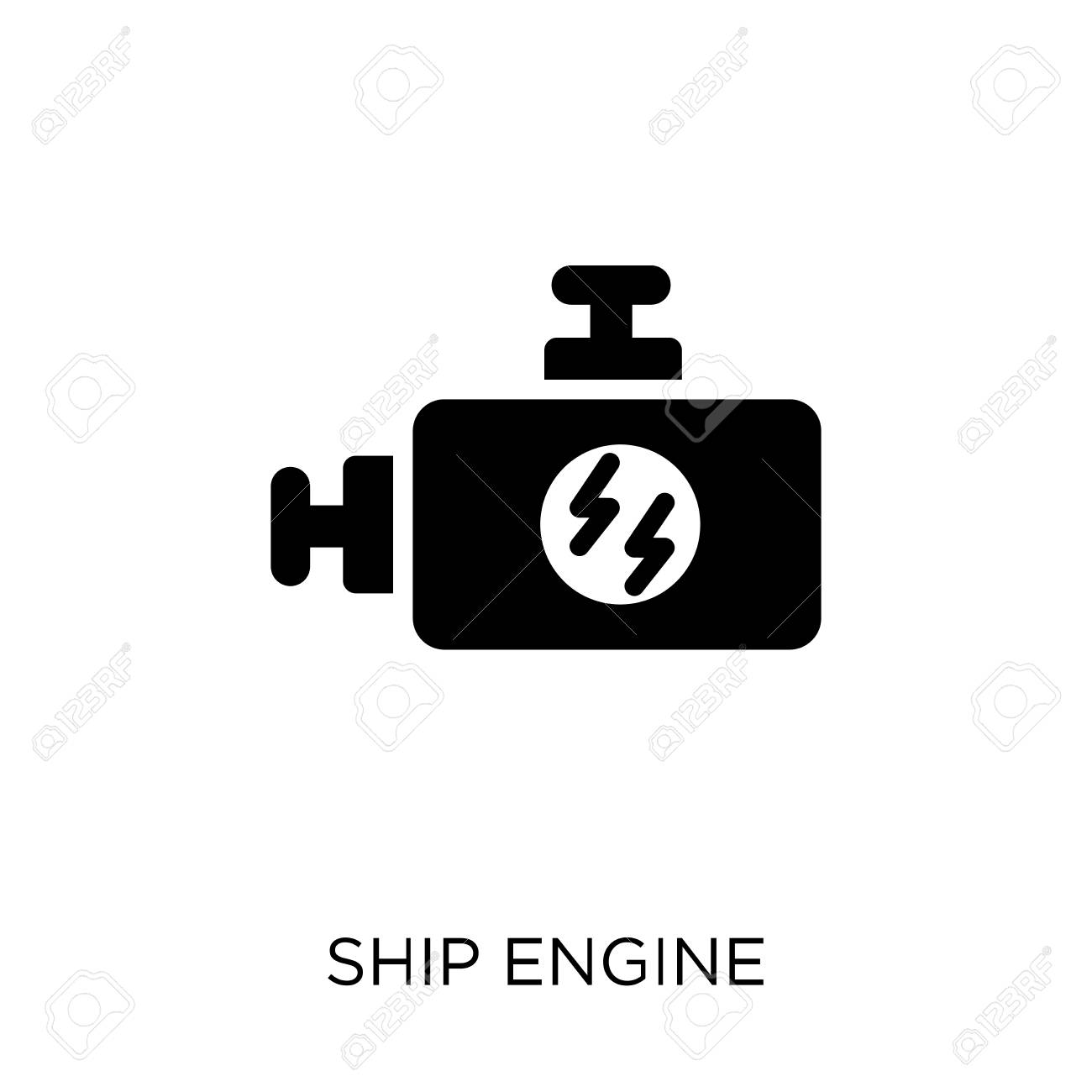 Ship Engine icon  Ship Engine symbol design from Nautical collection