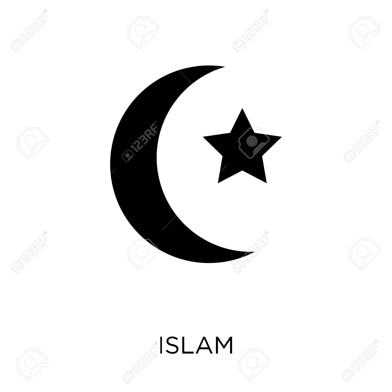islam icon islam symbol design from religion collection simple royalty free cliparts vectors and stock illustration image 111535794 islam icon islam symbol design from religion collection simple