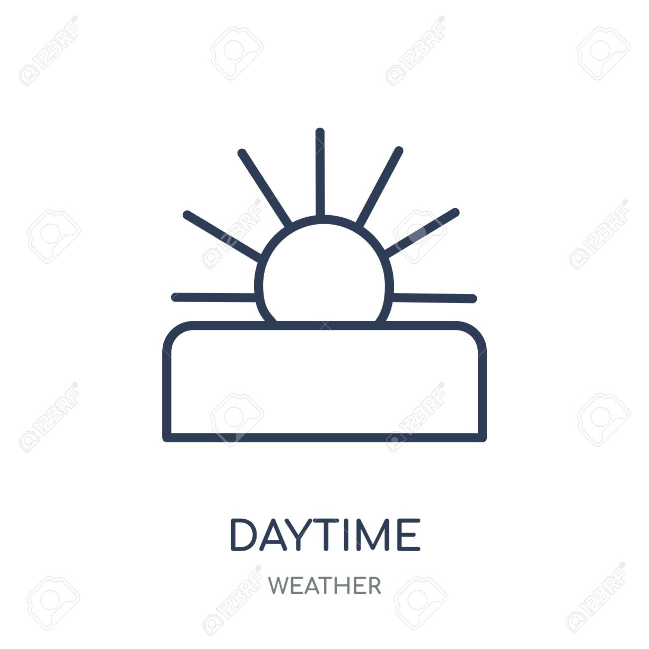 Daytime icon. Daytime linear symbol design from Weather collection. Simple outline element vector illustration on white background. - 111821598