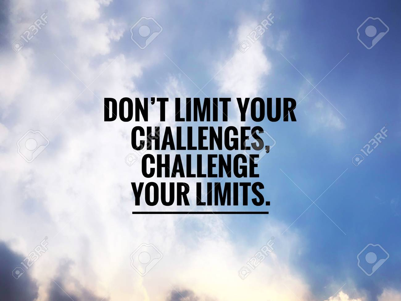 Motivational And Inspirational Quotes Dont Limit Your Challenges
