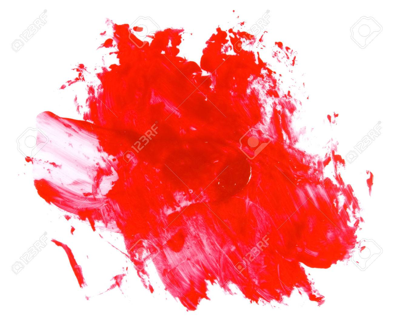 Isolated Image Of Red Paint Spot Close Up Stock Photo Picture And
