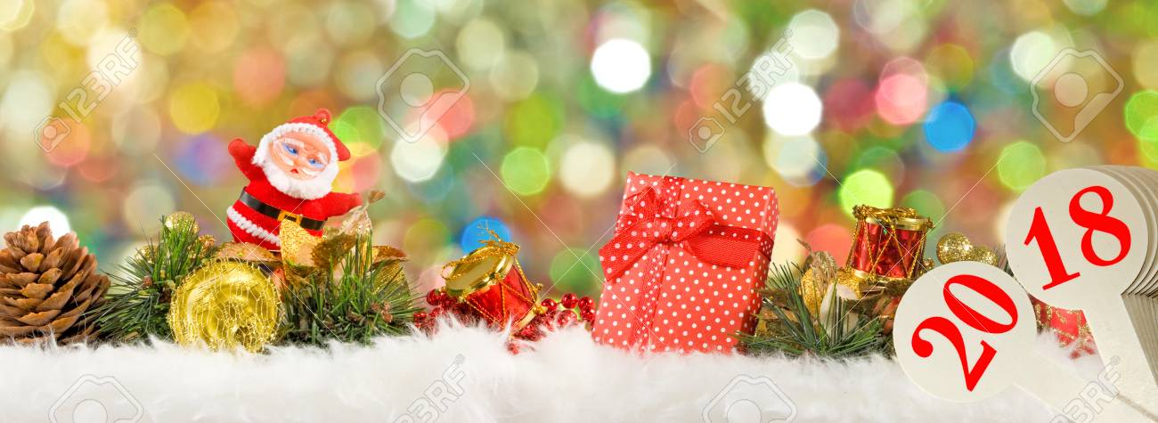 Image Of Beautiful Christmas Card Closeup Stock Photo, Picture And ...