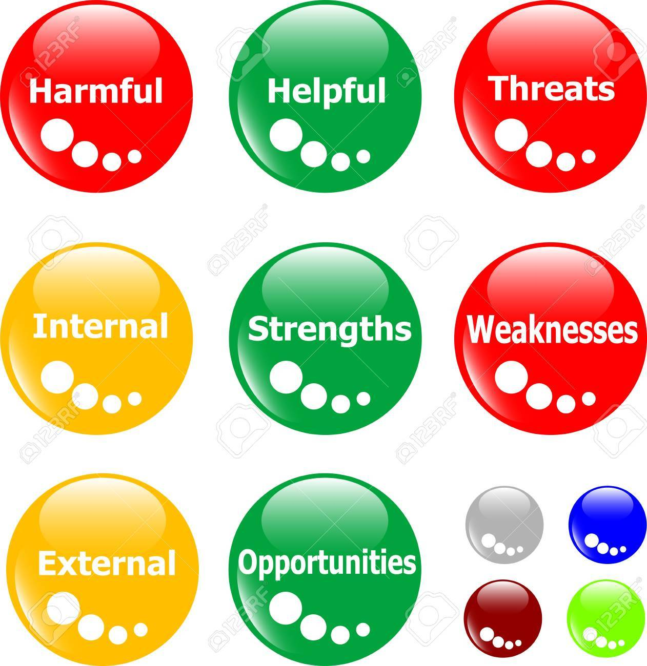 SWOT analysis concept button Stock Vector - 9651643