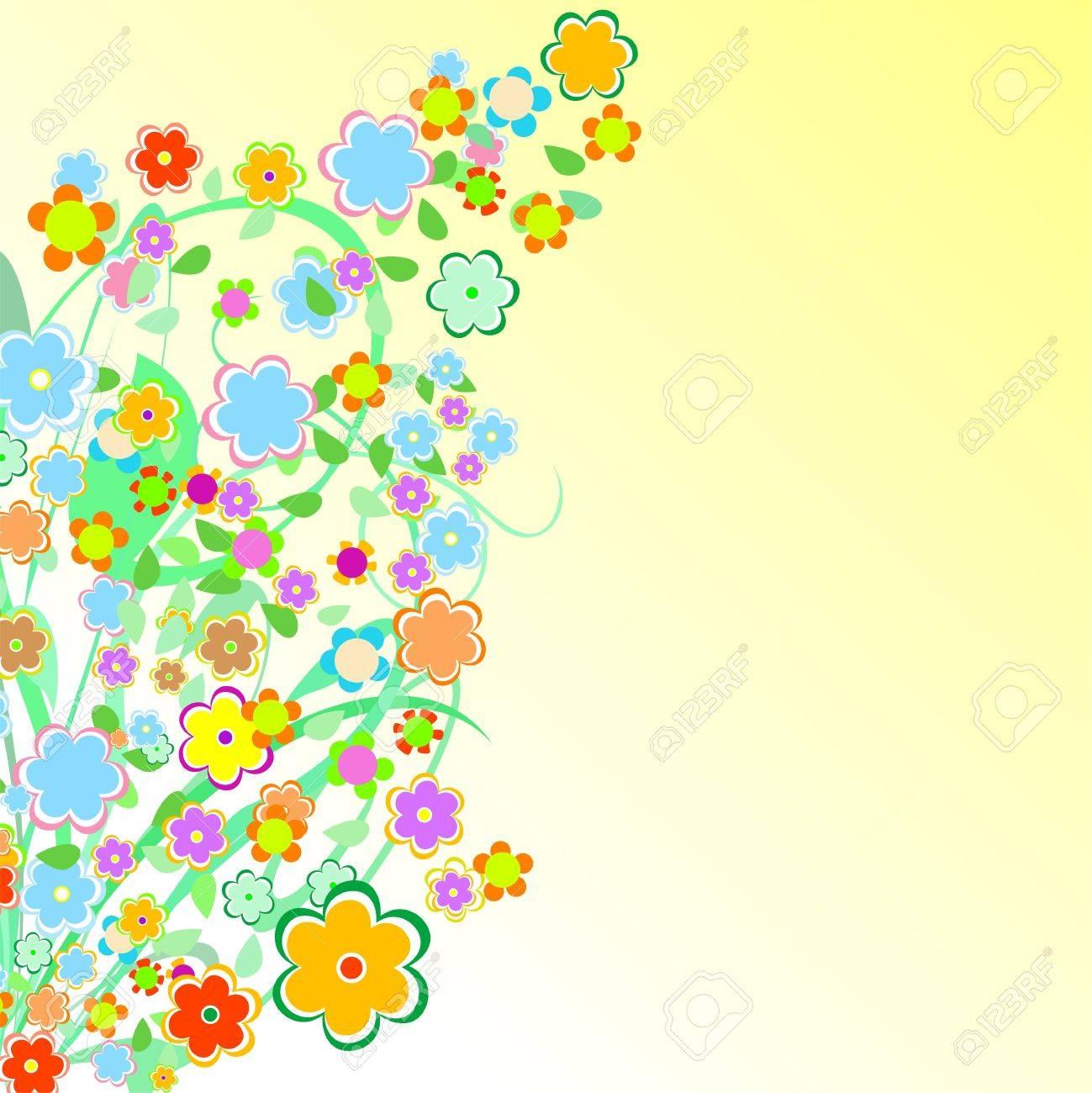 Beautiful Floral Border. Flower design Stock Vector - 10367510