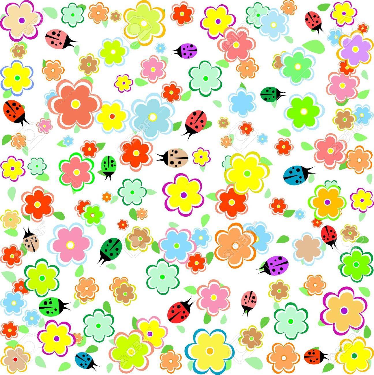 Картинки божьих коровок весной