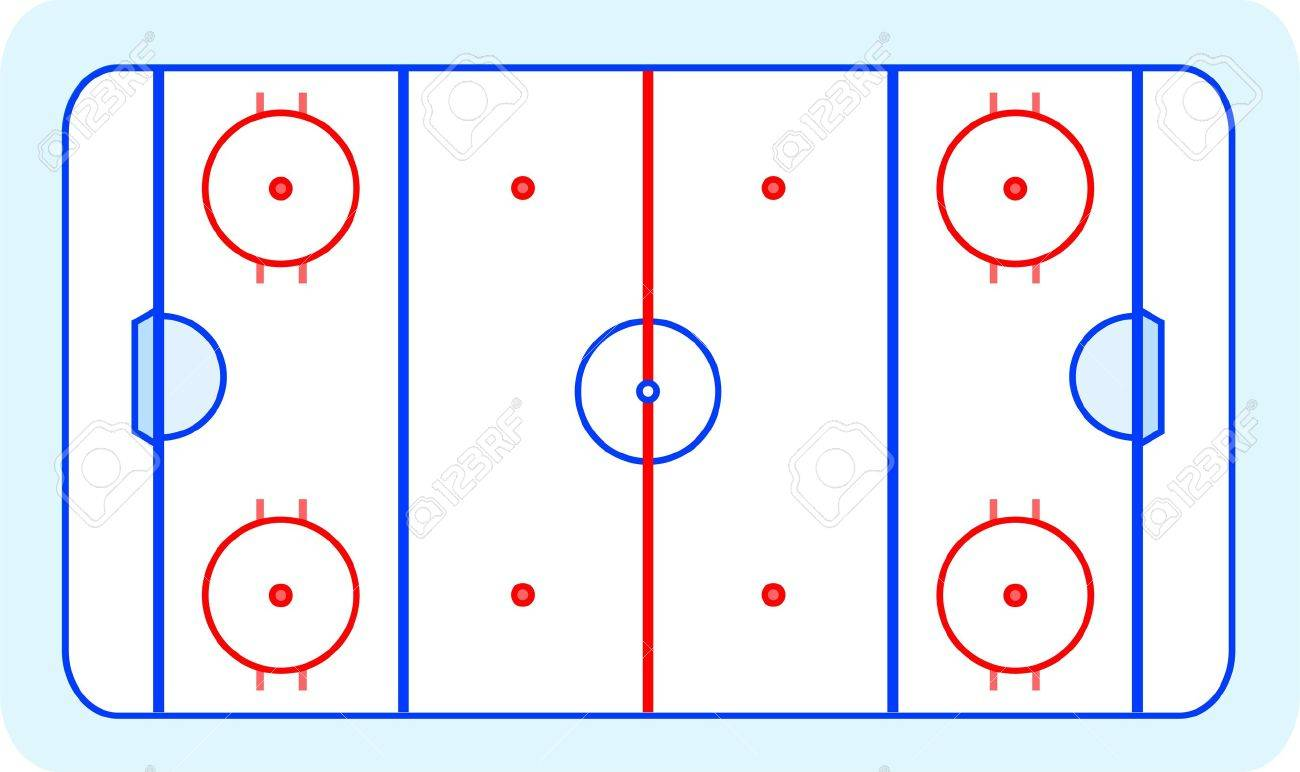 ice hockey field blue greetings card royalty free cliparts    vector   ice hockey field blue greetings card