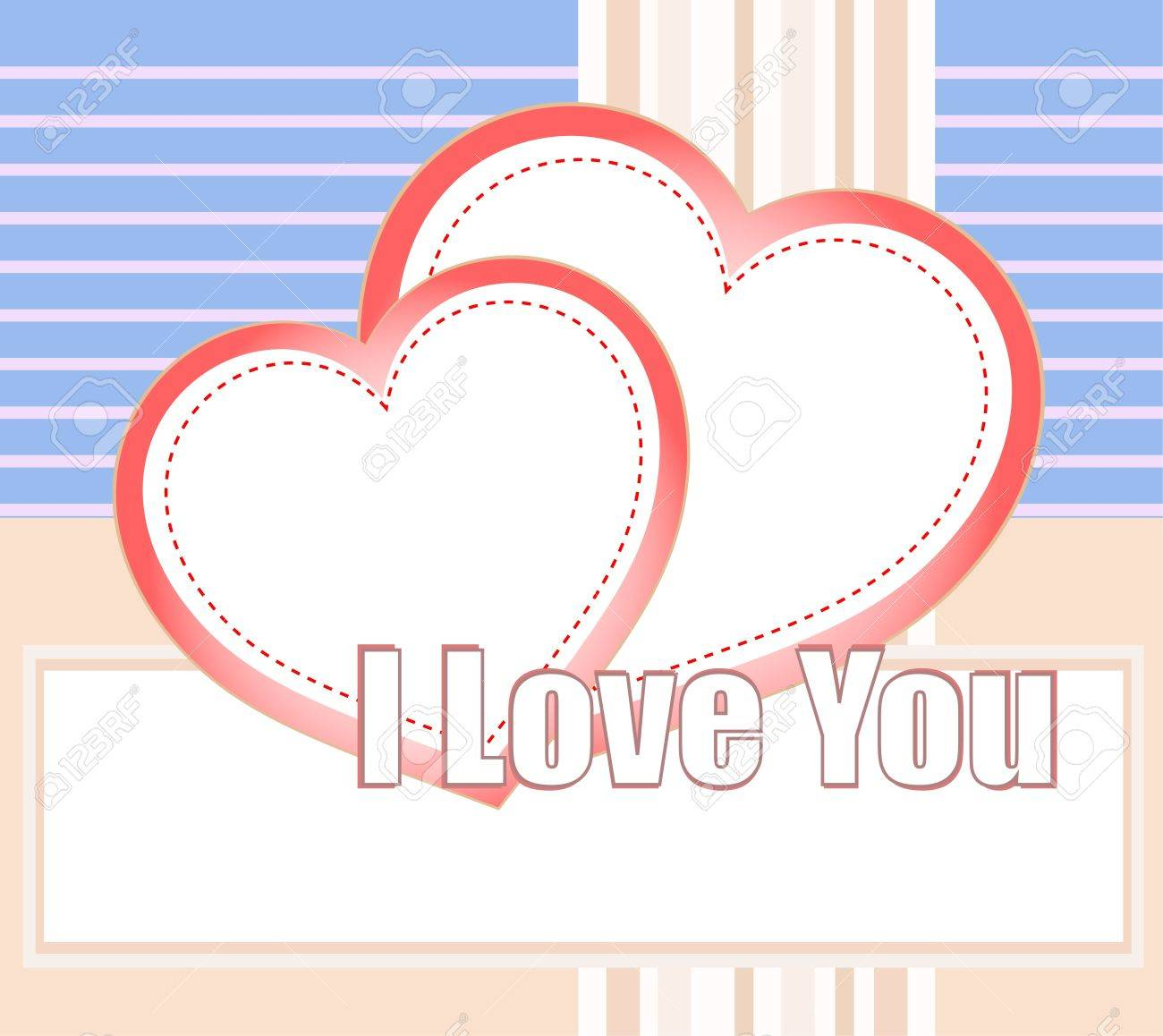 I love you and hearts on a style vector background Stock Vector - 11979704