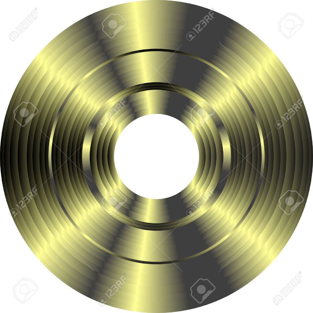gold vinyl record isolated on white background Stock Photo - 12632643