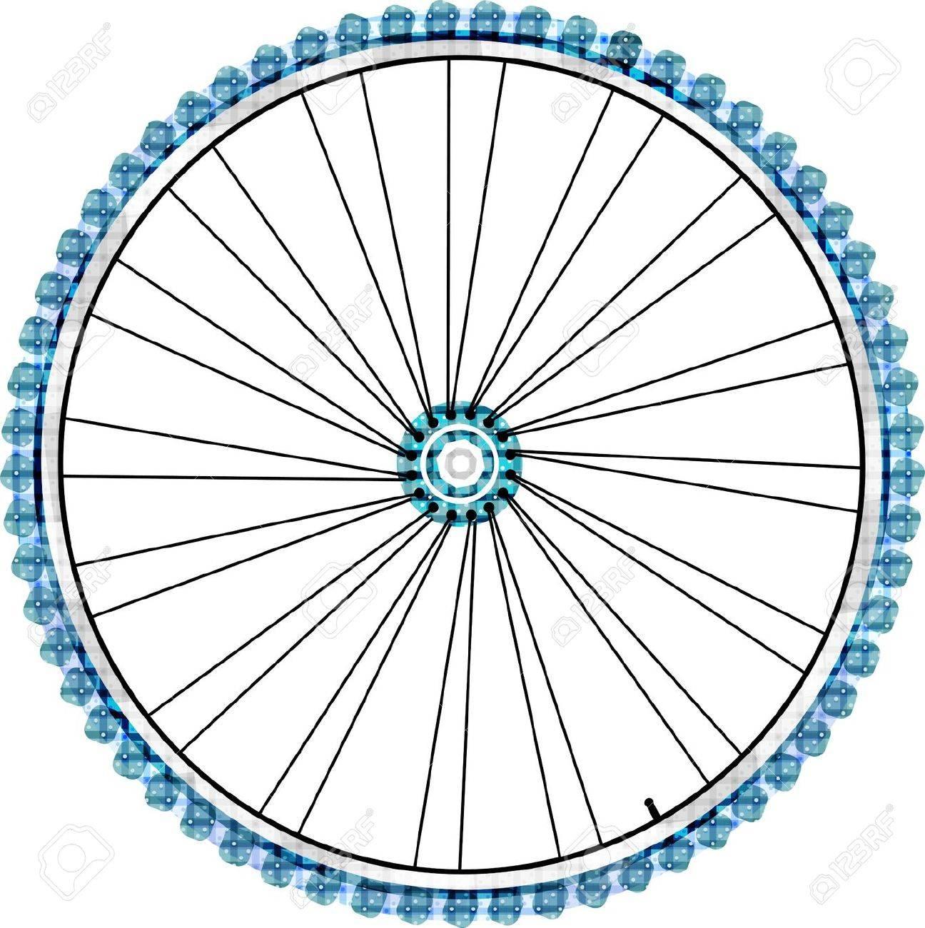 Bike wheel isolated on white background. vector illustration - 12632827