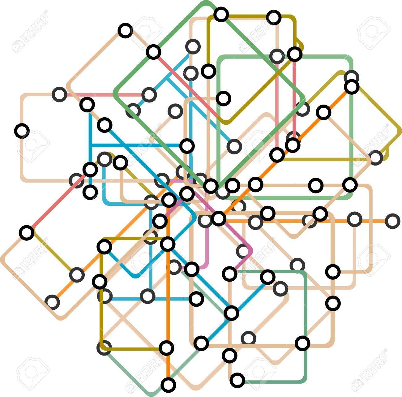 地下鉄の路線図の抽象的な背景のイラスト素材ベクタ Image 13293241
