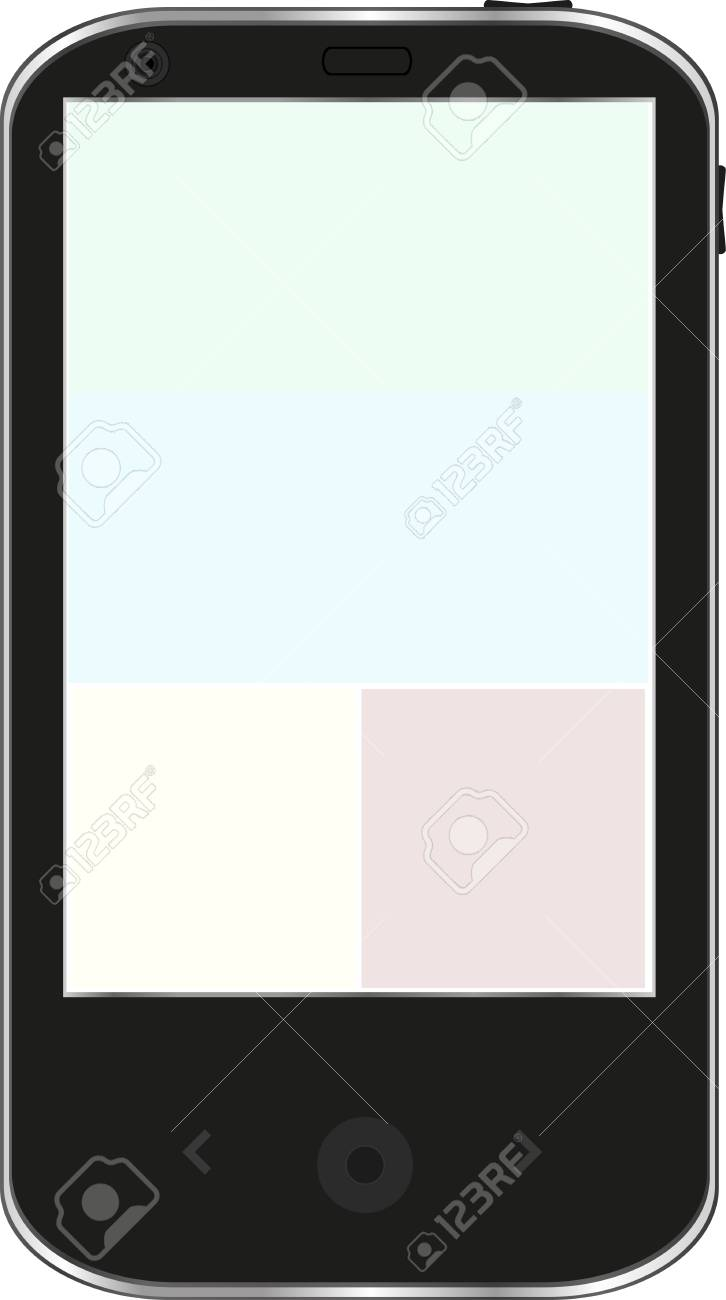 Black smartphone isolated on white background Stock Vector - 13293159