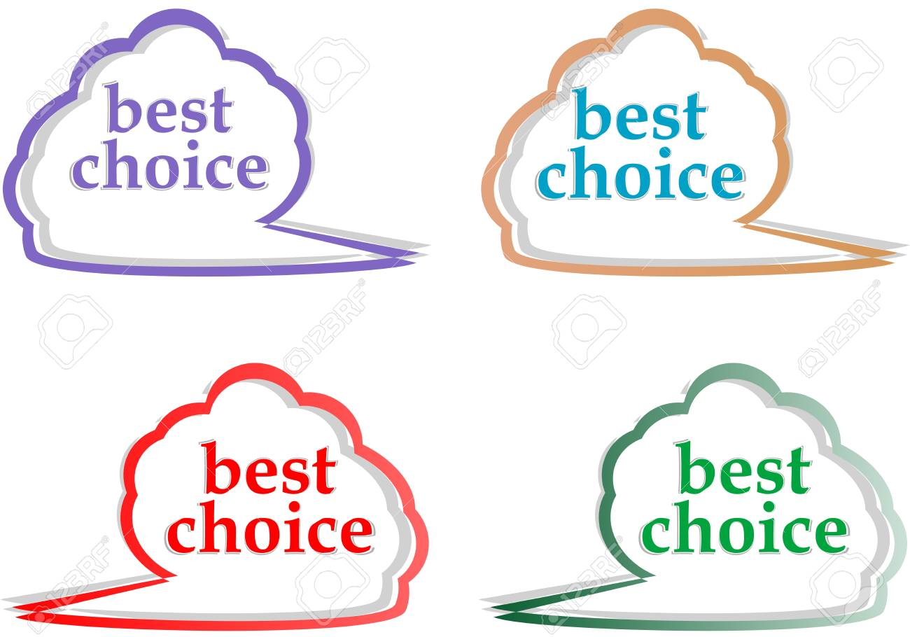 speech bubbles set with best choice message illustration Stock Vector - 13293286