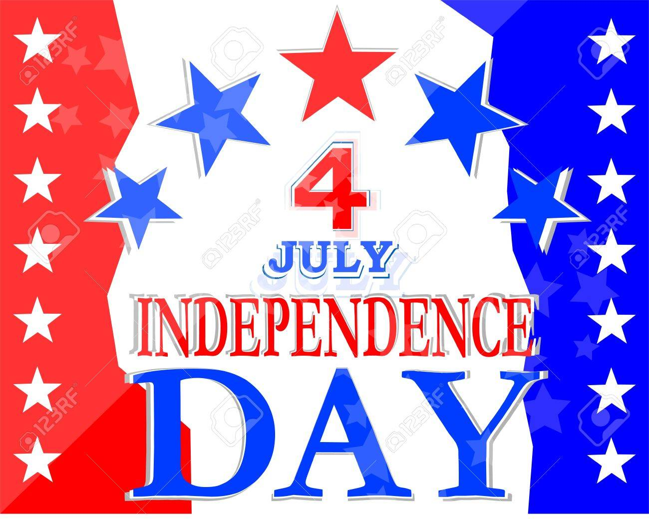 USA Independence Day Design - usa greetings vector background Stock Vector - 13933084
