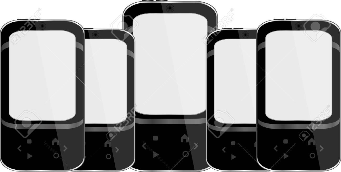 vector smart phone set Stock Vector - 14211189