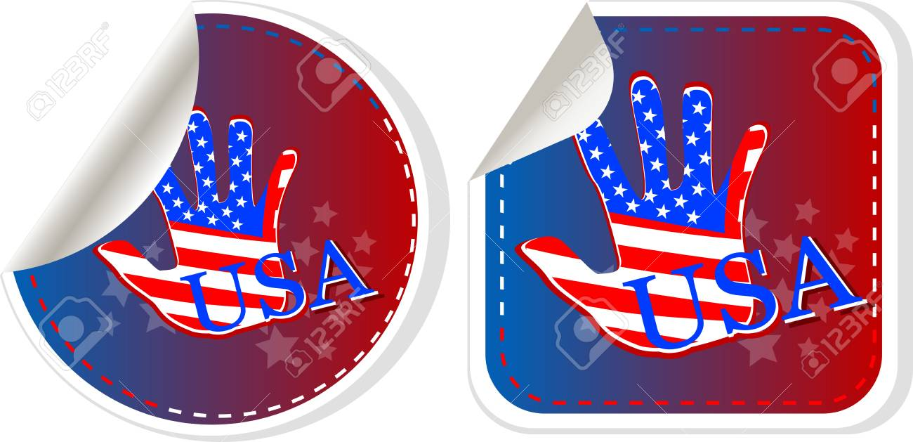Set of US presidential election stickers in 2012 Stock Vector - 14211370