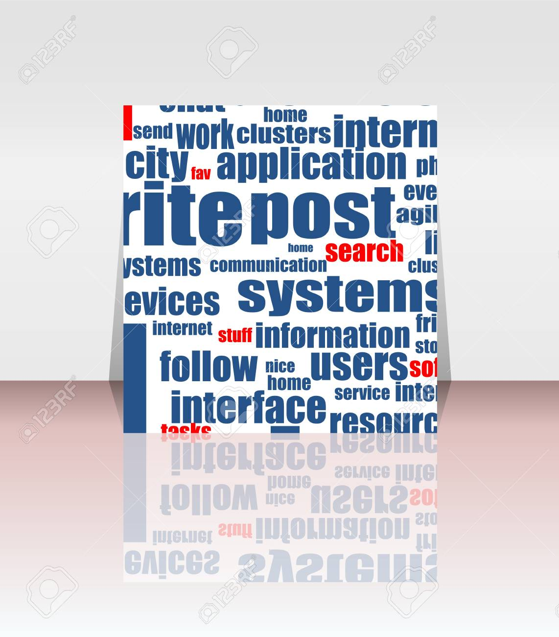 flyer or cover - like concept and social media words Stock Vector - 14552086