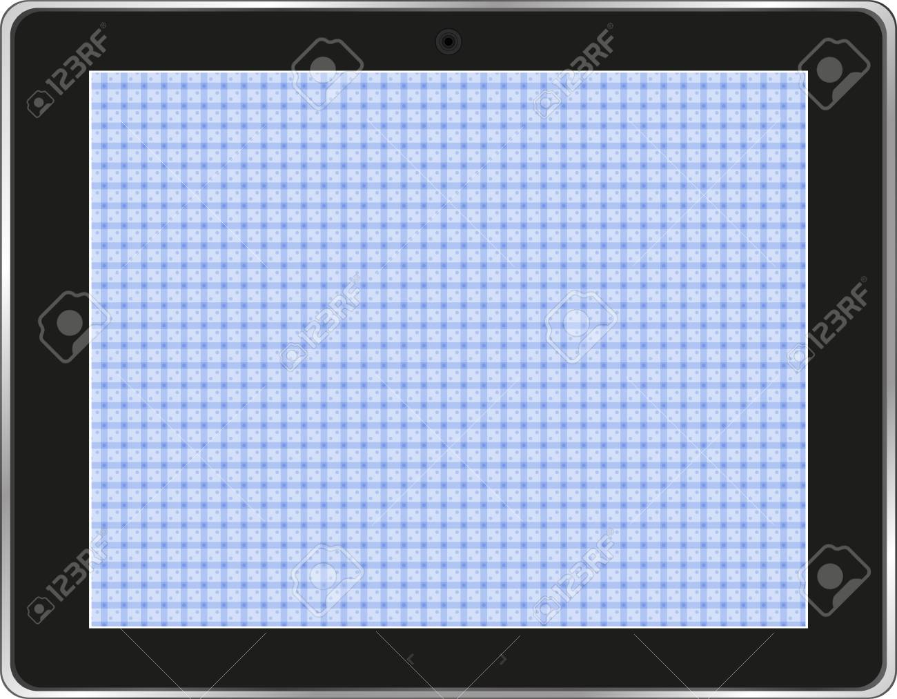 Black abstract tablet computer (tablet pc) on white background Stock Vector - 15917444