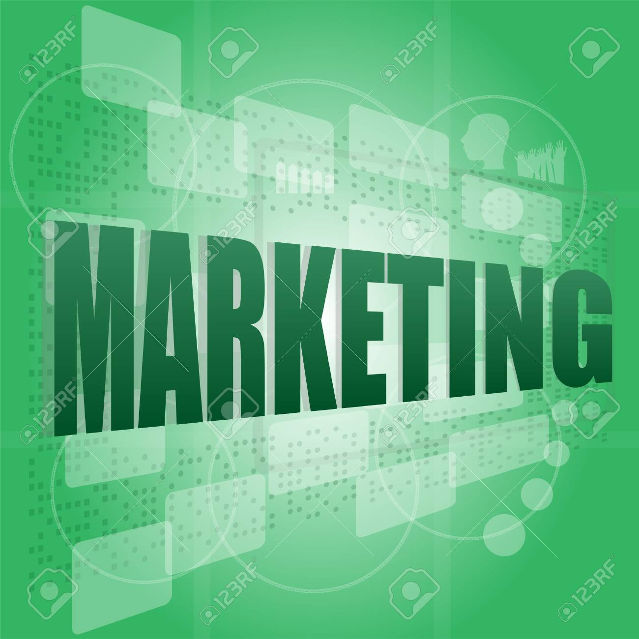 words marketing on digital screen, business concept Stock Photo - 16525599