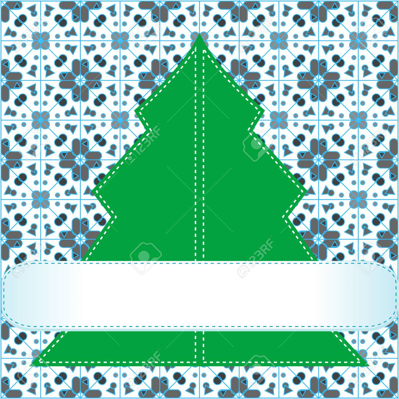Christmas tree applique background Stock Photo - 16656248