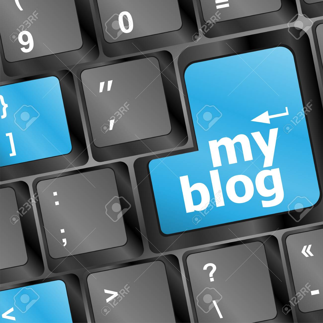 my blog sign button on keyboard Stock Photo - 16799395