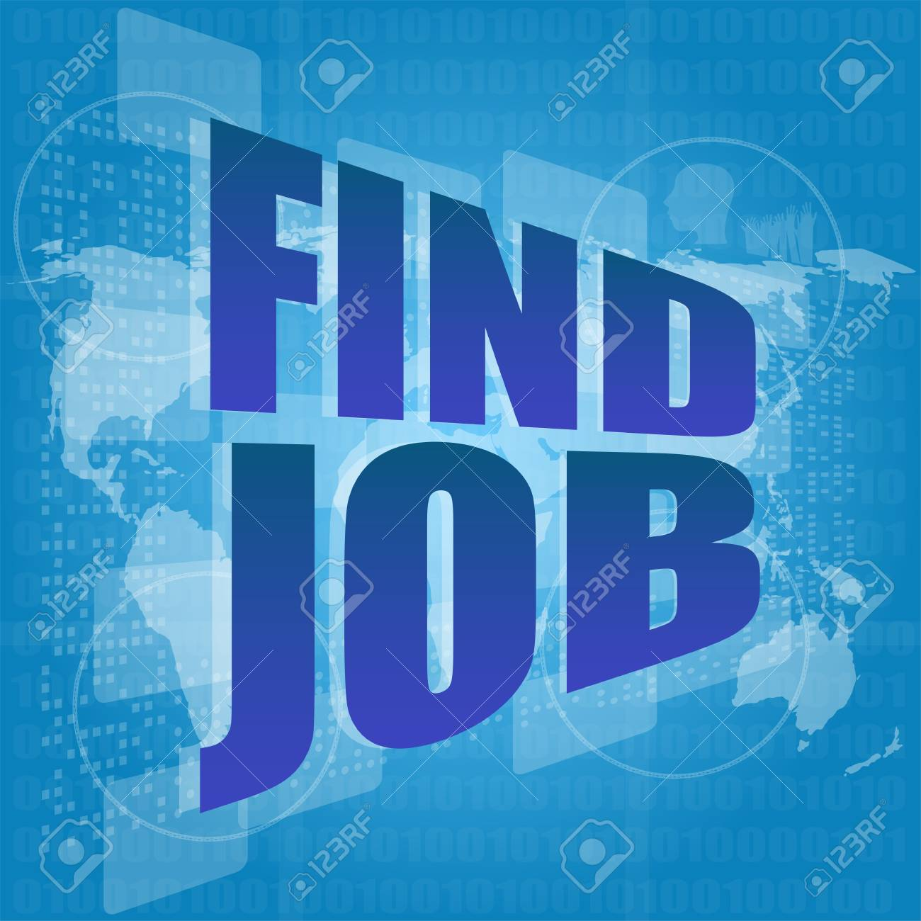 find job text in digital screen - social concept Stock Photo - 17166248