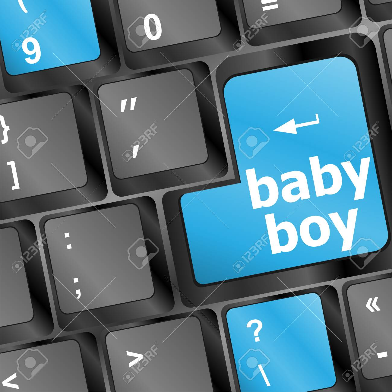 key on a computer keyboard with the words baby boy Stock Photo - 17166218