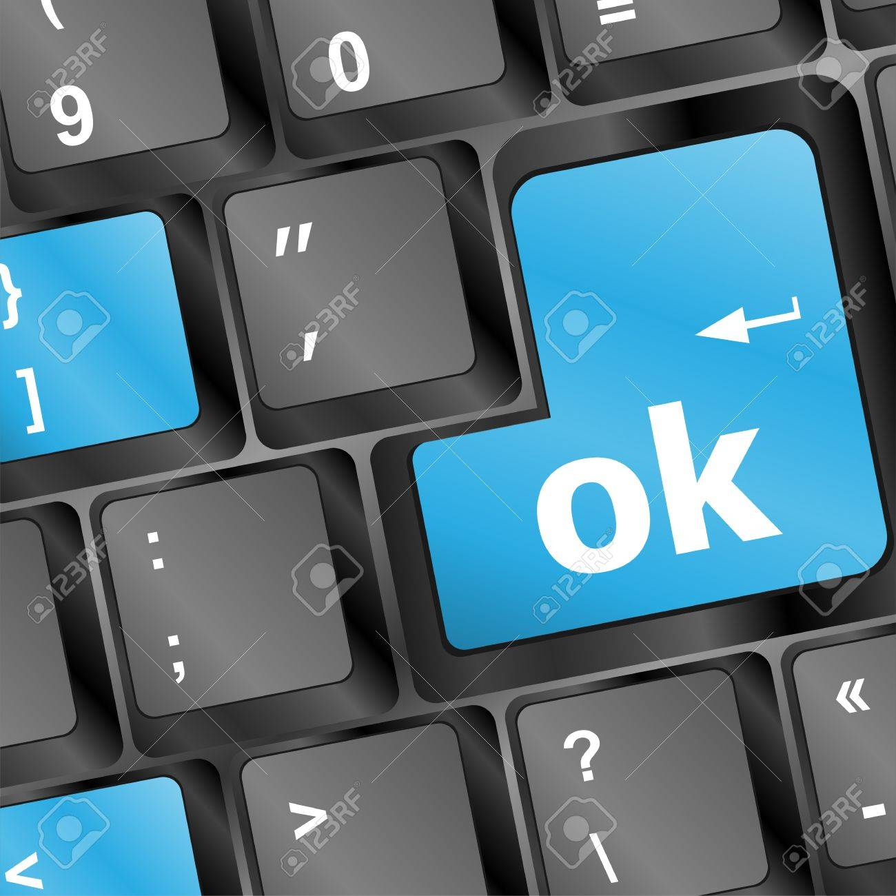 Button OK computer keyboard. Internet concept Stock Photo - 17148202