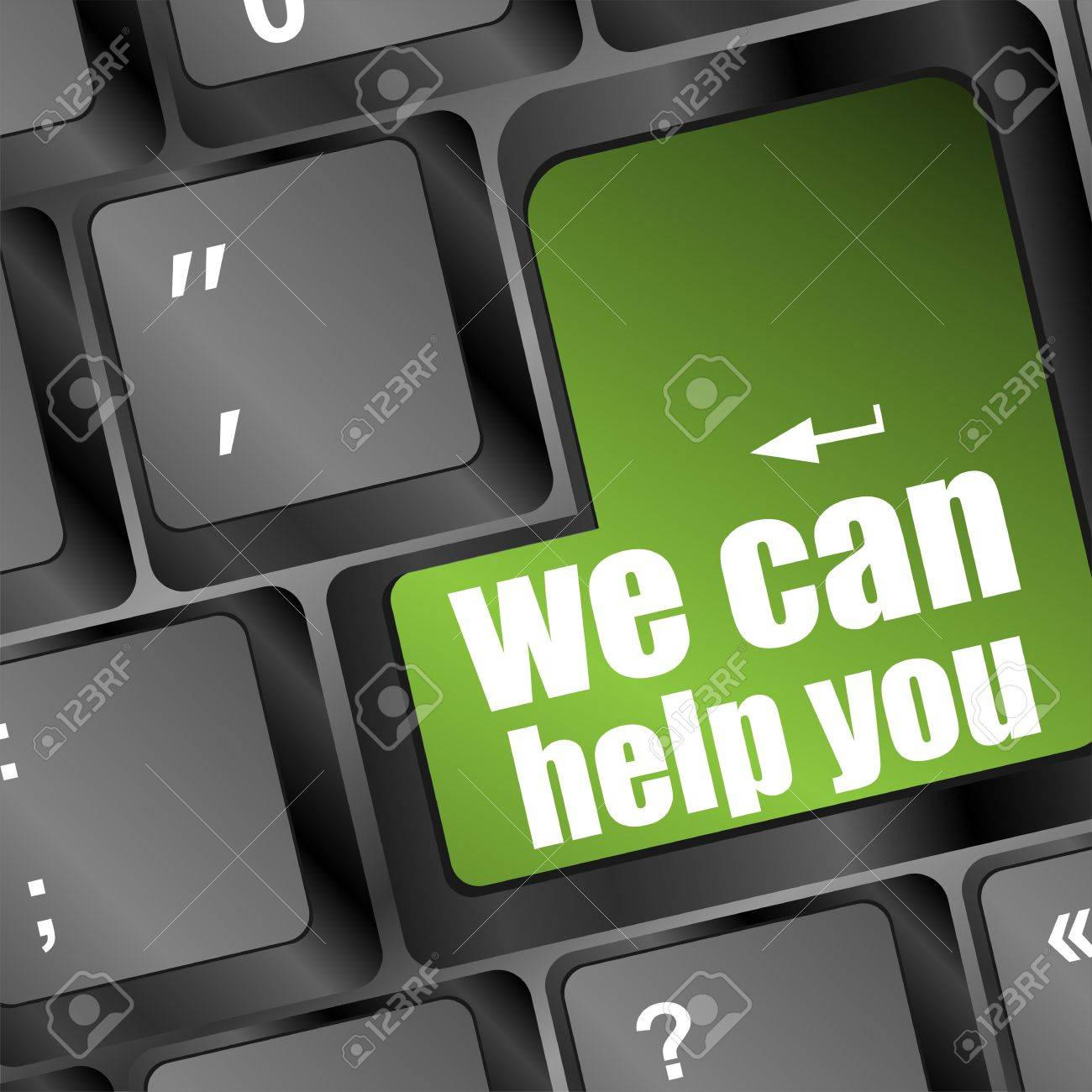 we can help you written on computer button Stock Photo - 17598506