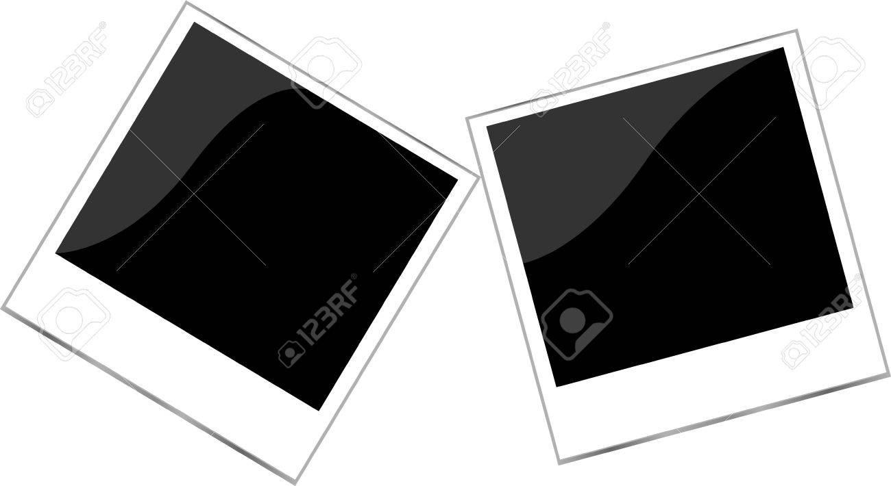 Polaroid Bilderrahmen Gesetzt Isoliert Auf Weiß Lizenzfreie Fotos ...