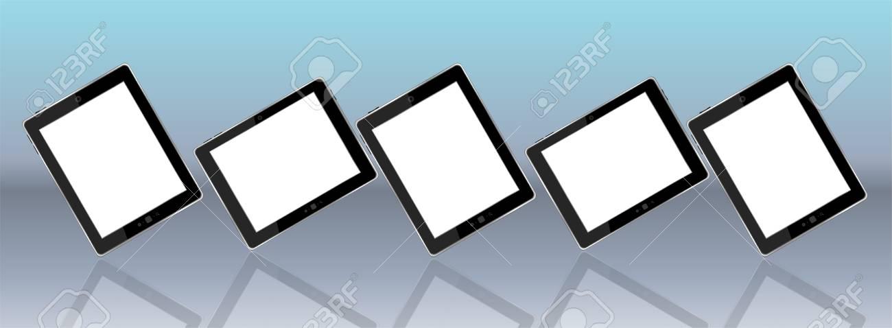 Tablet pc set on background Stock Photo - 17598537