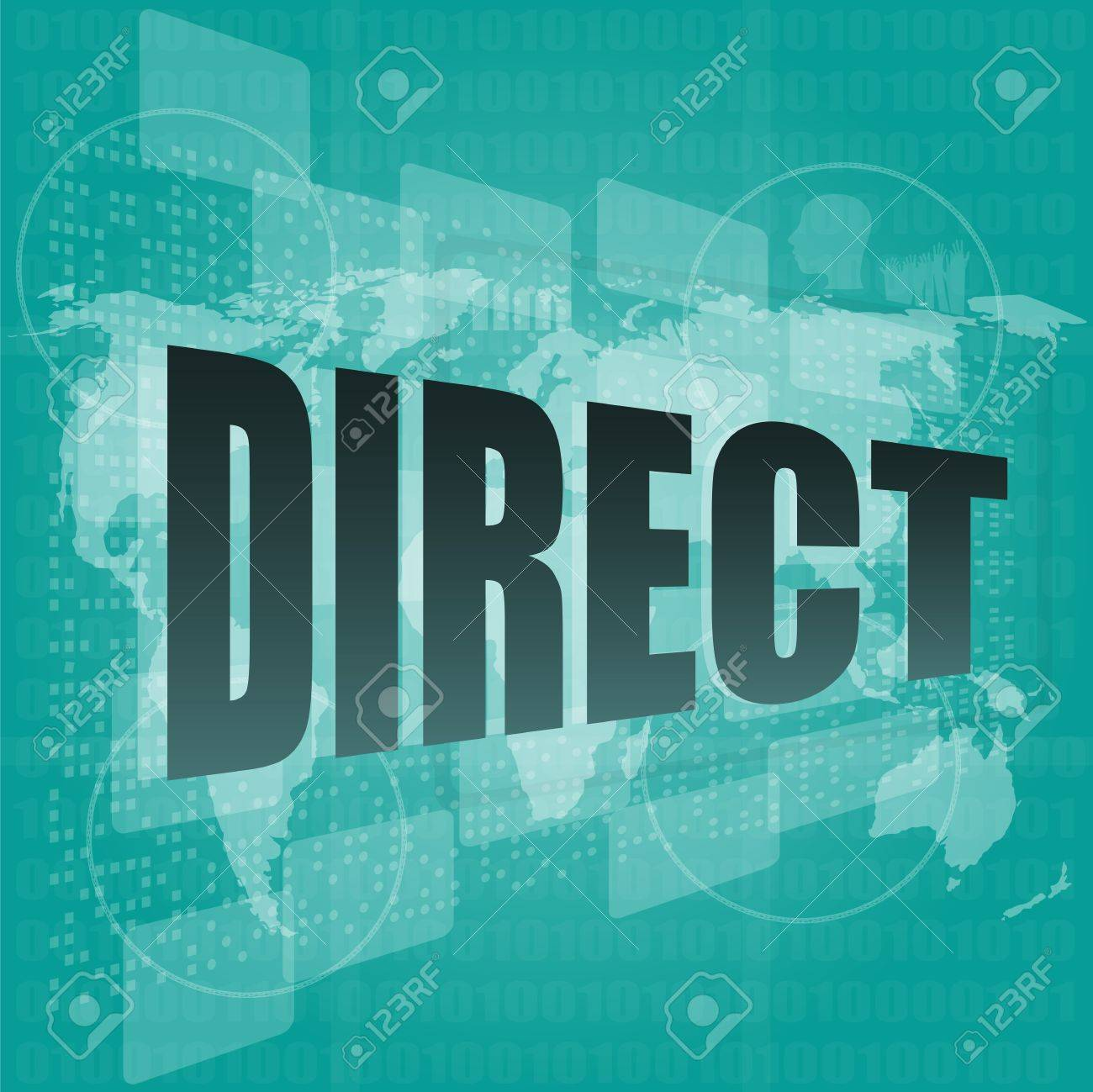 business concept: word direct on digital background Stock Photo - 17782265