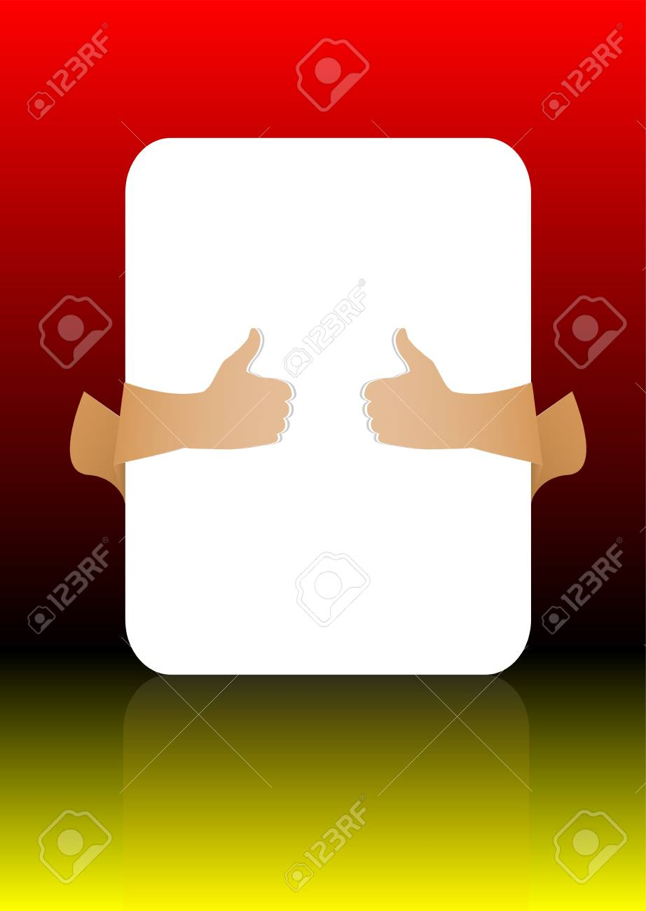 Hands holding paper on abstract background Stock Photo - 17915715