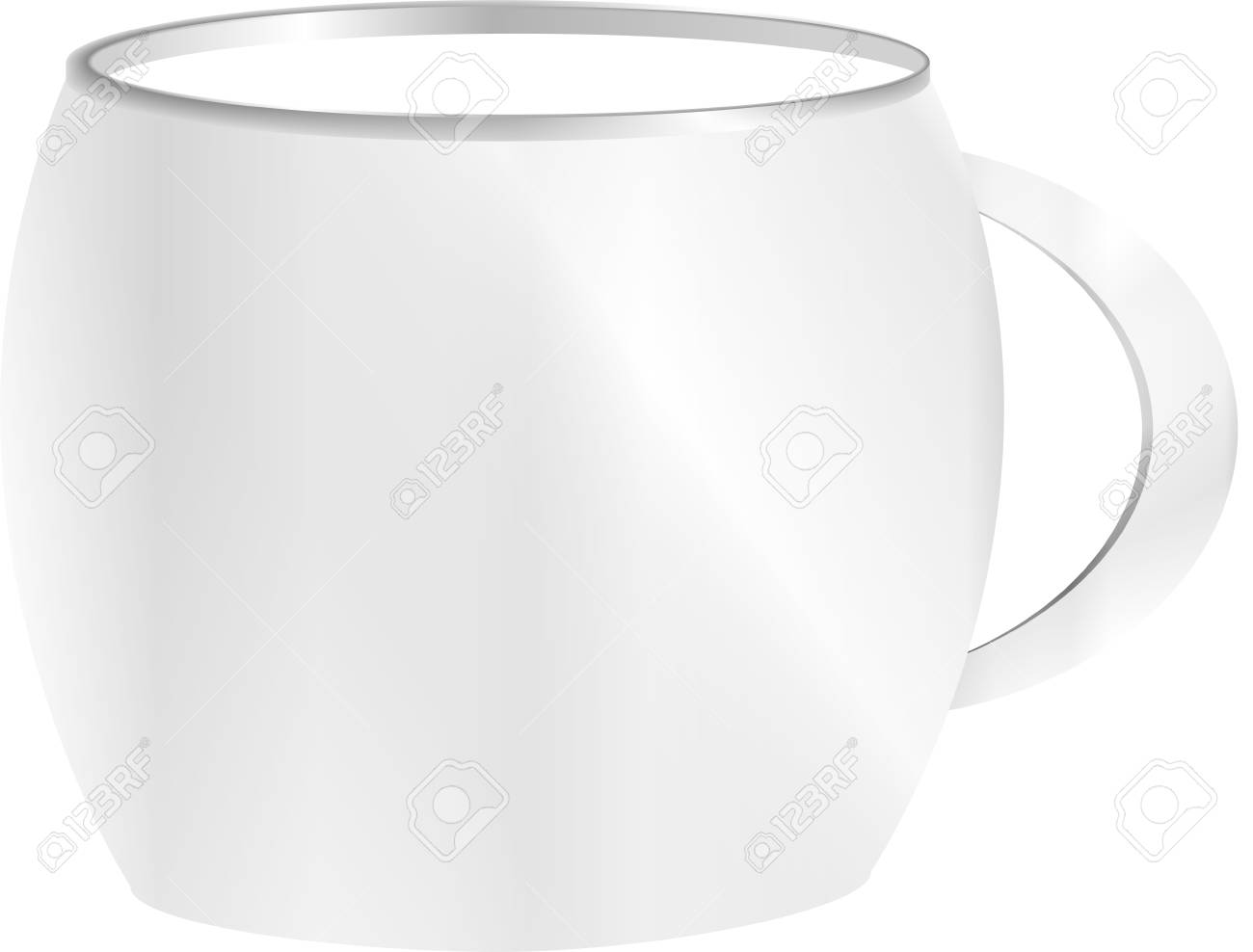 tea cup isolated on white front view Stock Photo - 18218567
