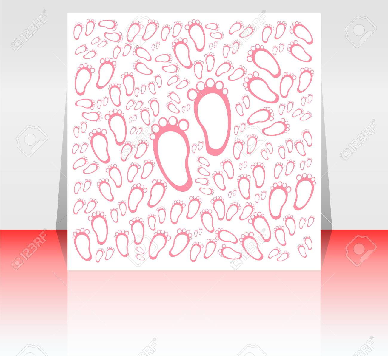 Bright baby girl arrival card, shower invitation Stock Photo - 18260068