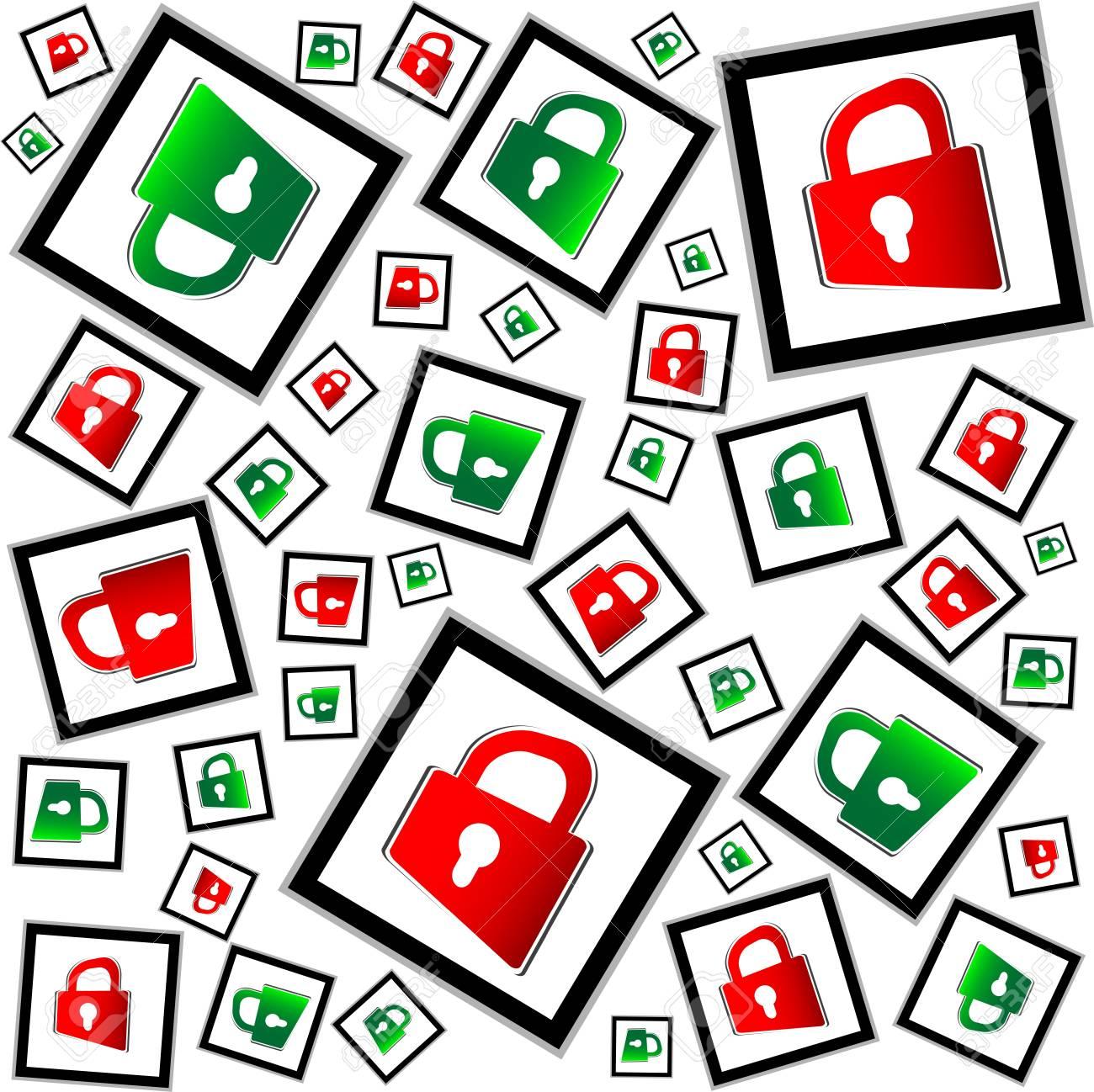 rot und grn vorhngeschlssern nahtlose vektor muster sicherheitskonzept standard bild 18409054 - Sicherheitskonzept Muster