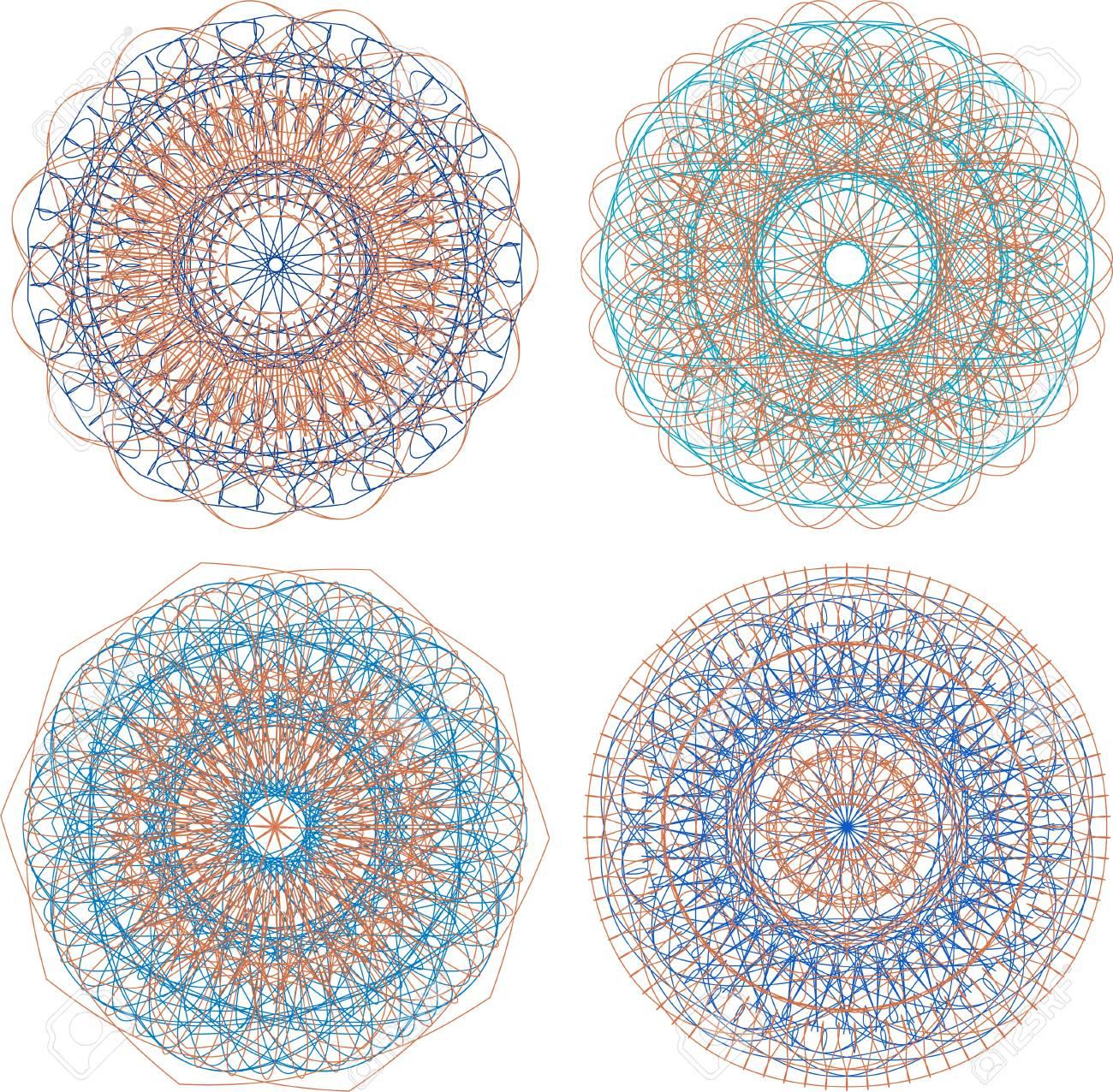 Un Conjunto De Mandalas Hermosas Y Círculos De Encaje Fotos