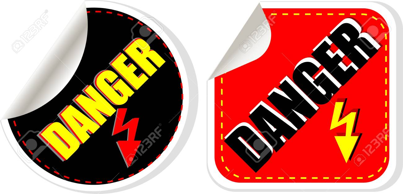 High voltage danger sign, symbol Stock Photo - 19336341