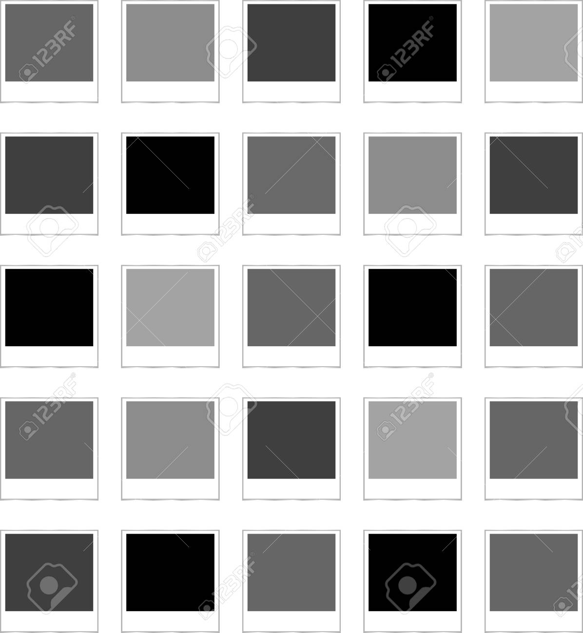 Polaroid Bilderrahmen Auf Weißem Hintergrund Lizenzfreie Fotos ...