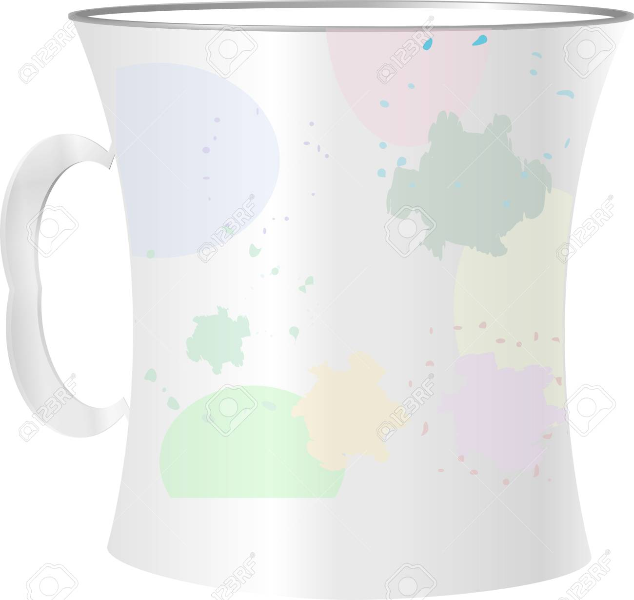 close up of empty used coffee cups and blots on white background Stock Photo - 19435688