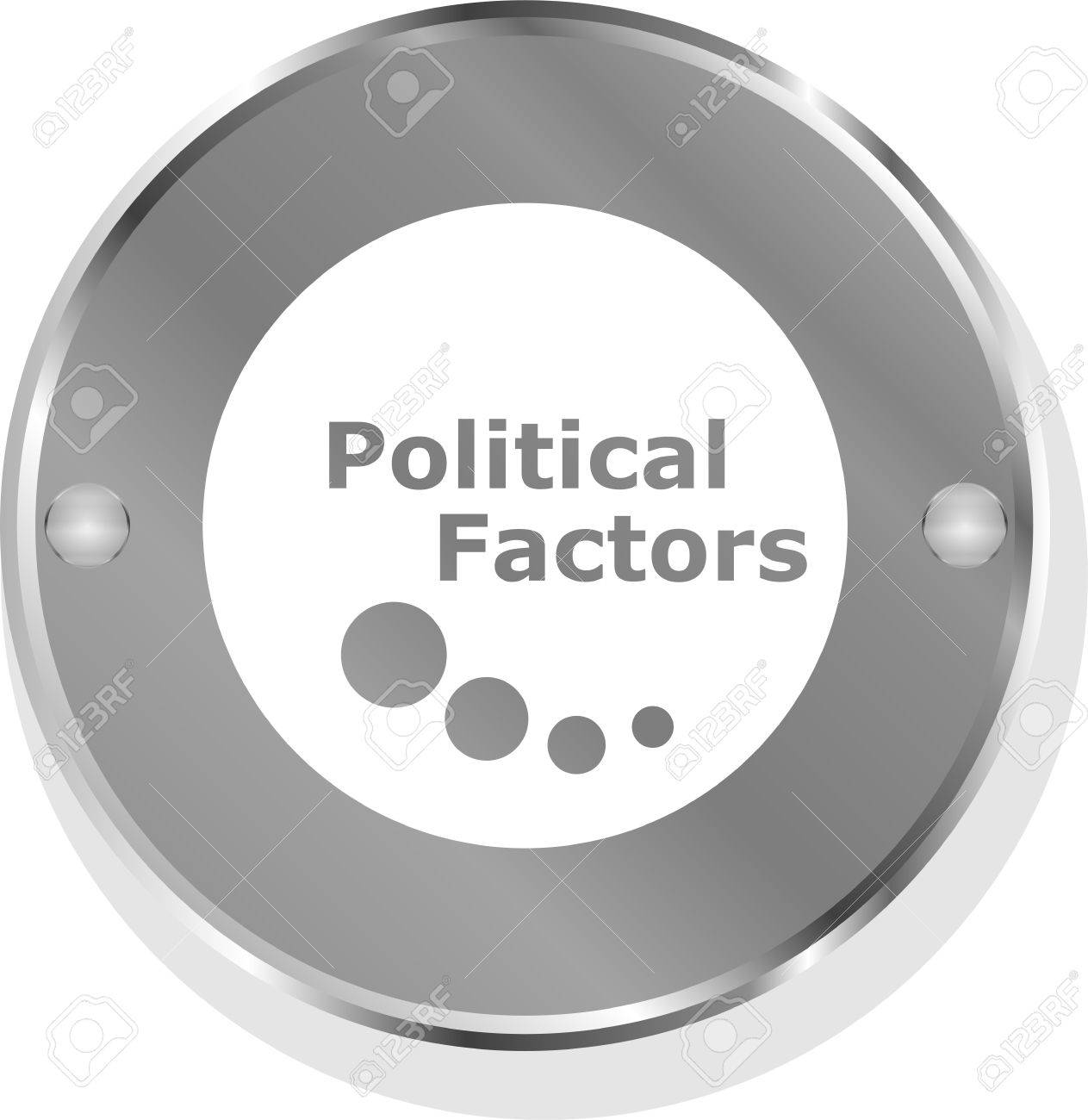 political factors metallic button Stock Photo - 19788642