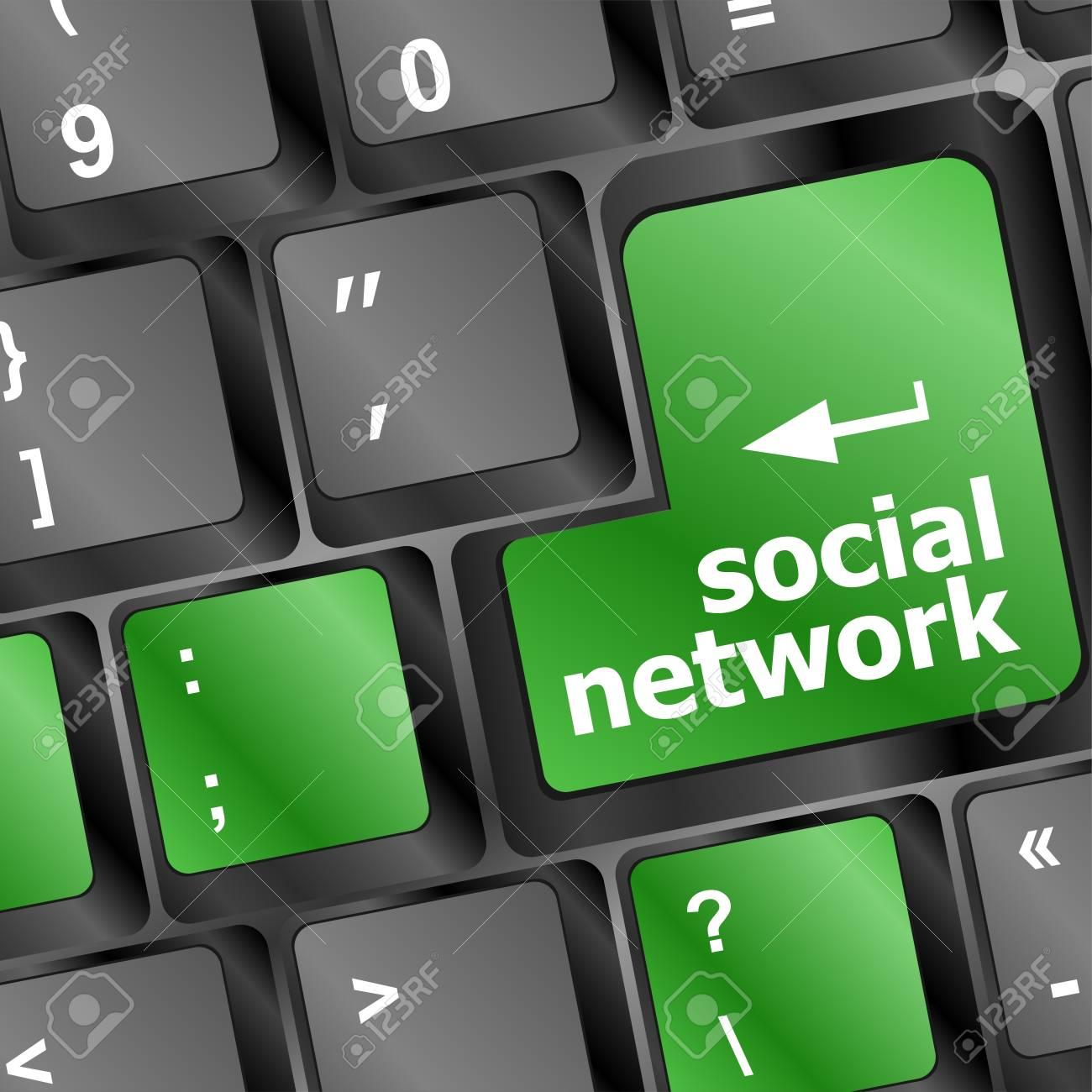 Social media network keyboard button Stock Photo - 19788675