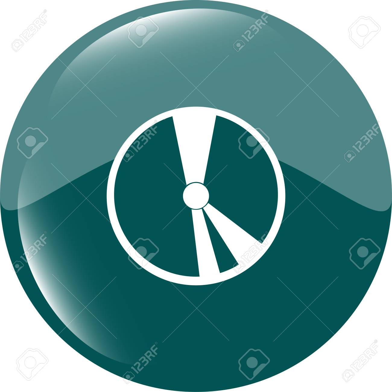 cd disk web icon button Stock Photo - 22298686