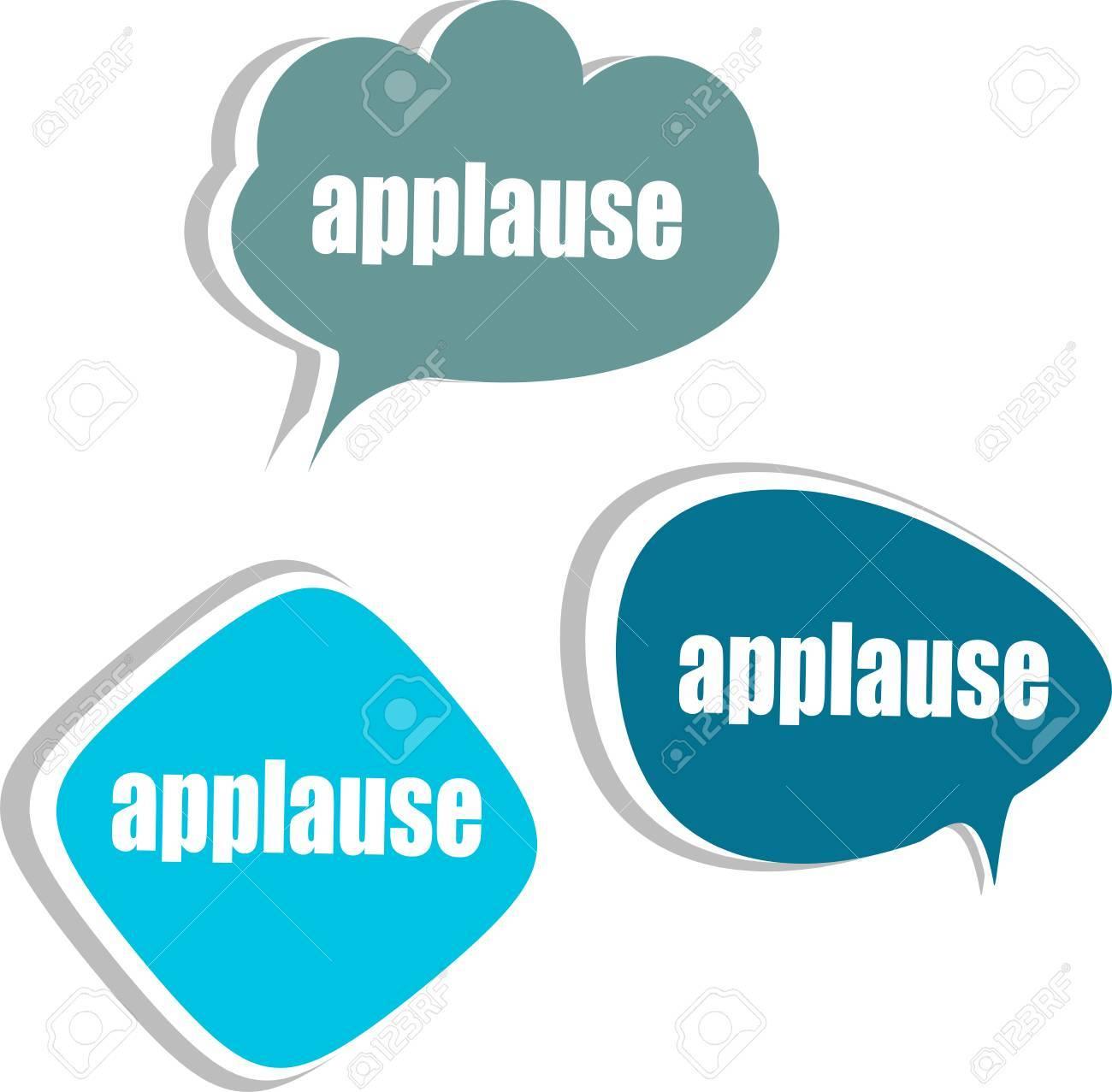 Applaus Wort Auf Moderne Banner-Design-Vorlage. Satz Von Aufklebern ...