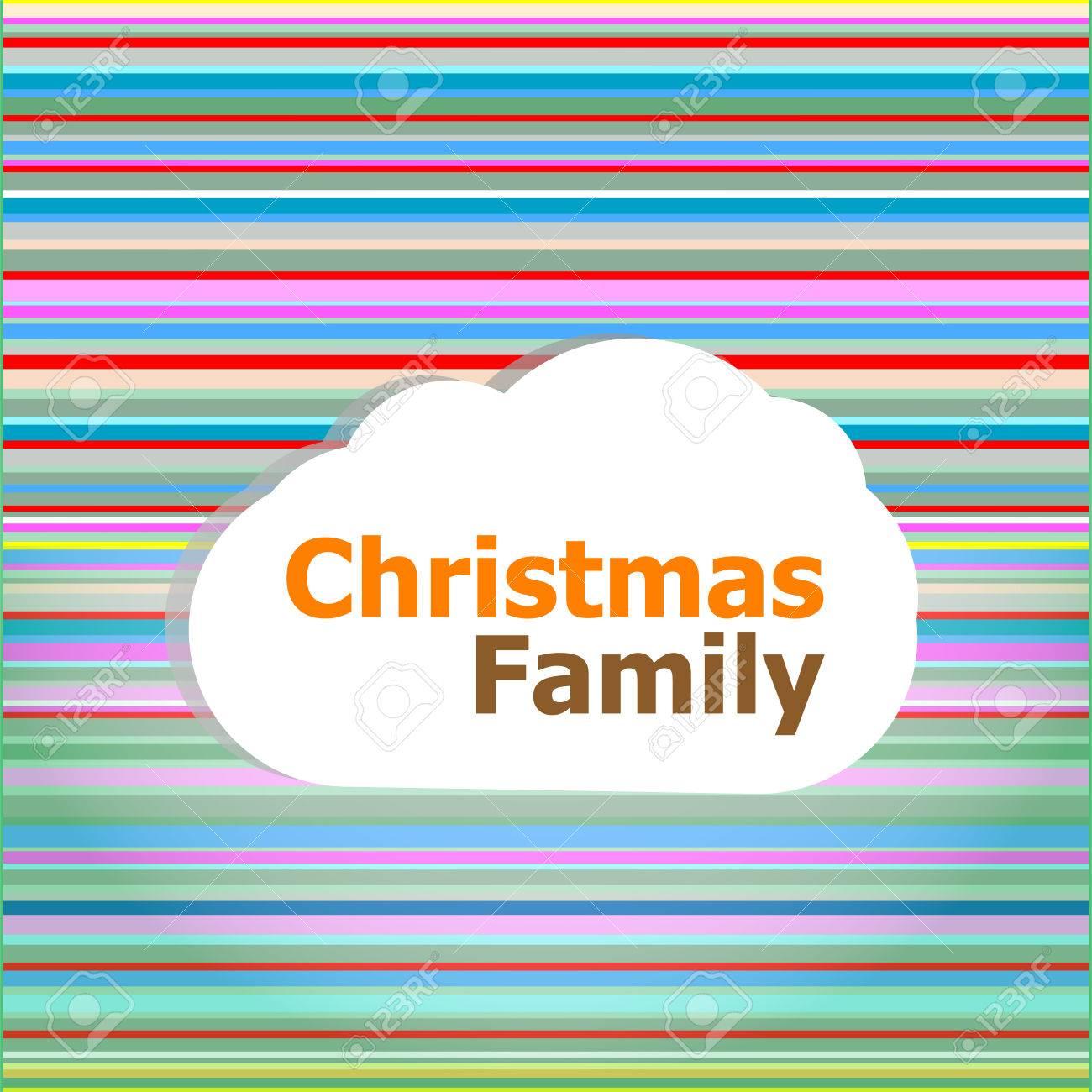 Carte Dinvitation De Noël Mot De Famille De Noël Sur Un Nuage