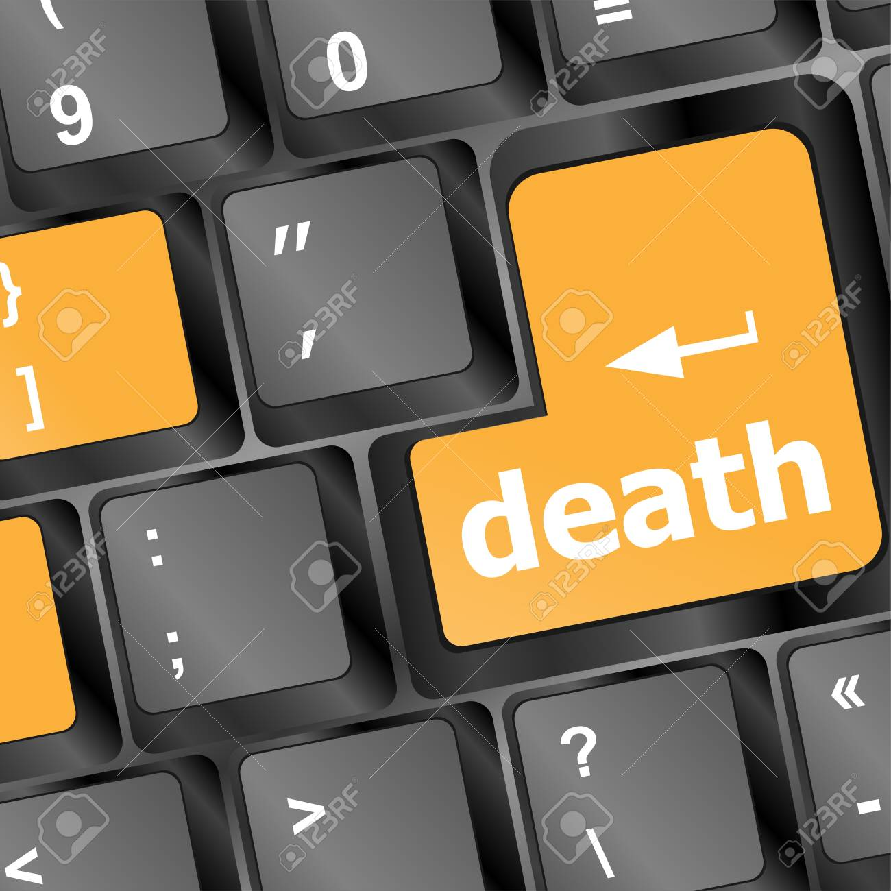 death button on computer keyboard pc key Stock Photo - 25059447