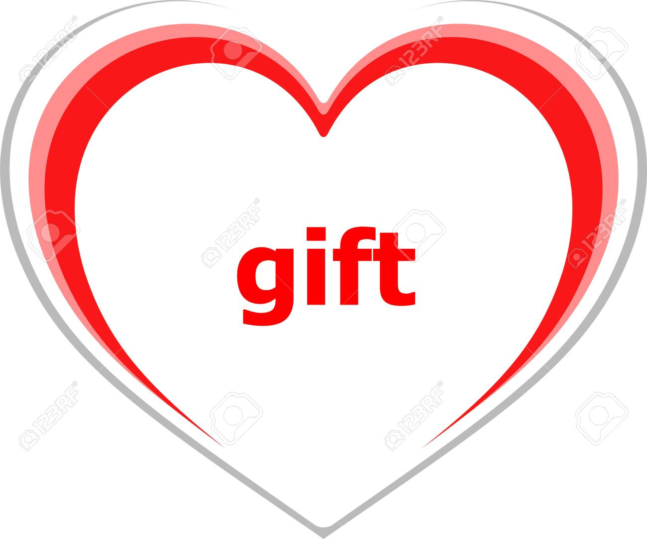 Holiday concept gift word on love heart stock photo picture and holiday concept gift word on love heart stock photo 26169674 negle Gallery