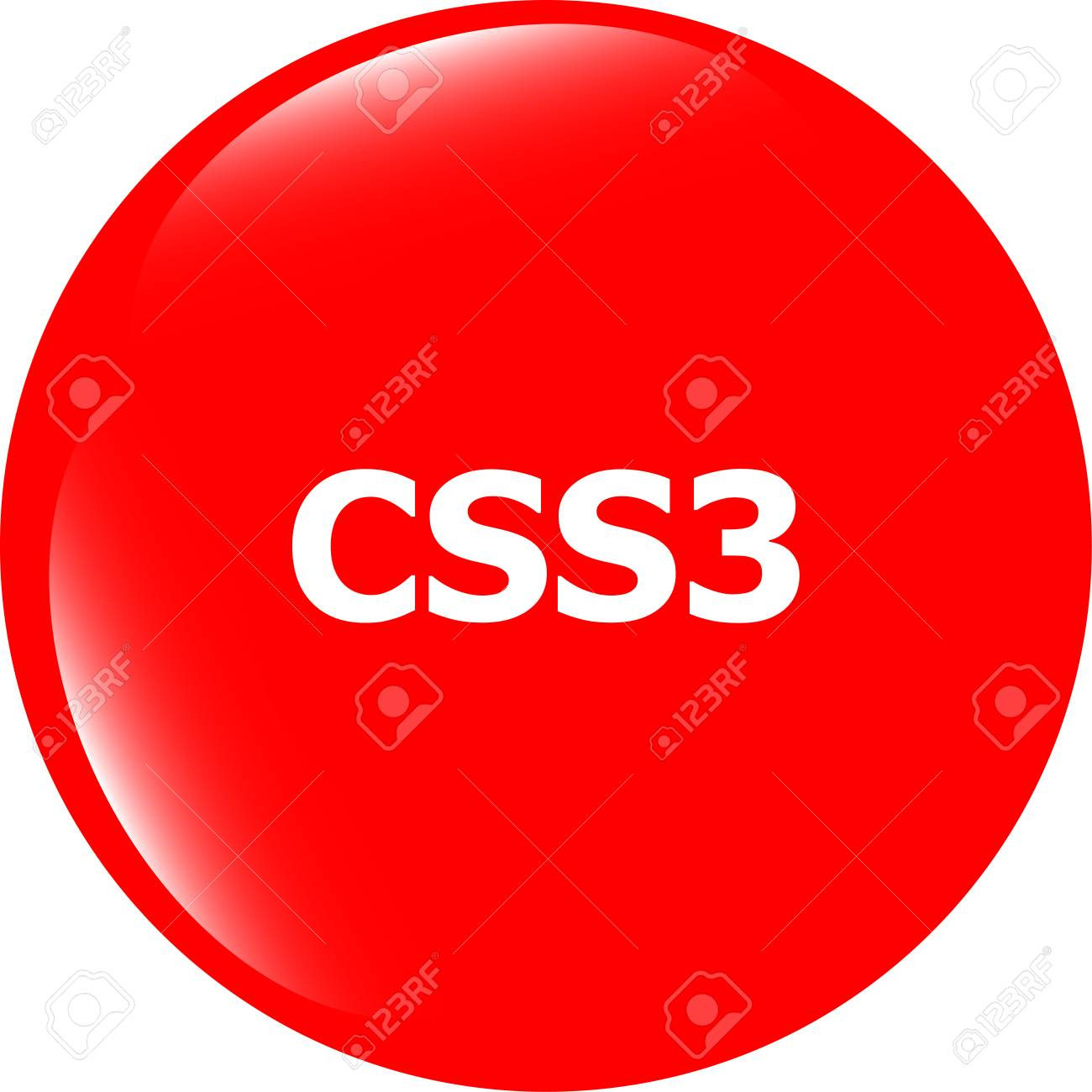 css style web icon isolated on white, web icon Stock Photo - 29178605