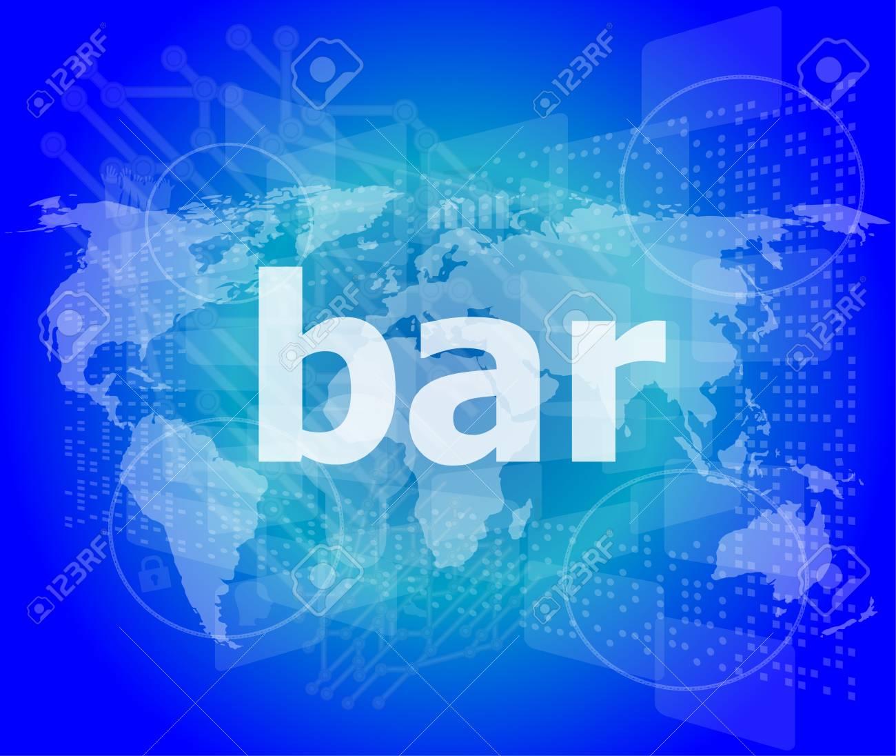 Bar Salut Technologie Fond Ecran Tactile D Affaires Numerique Banque D Images Et Photos Libres De Droits Image 29532653