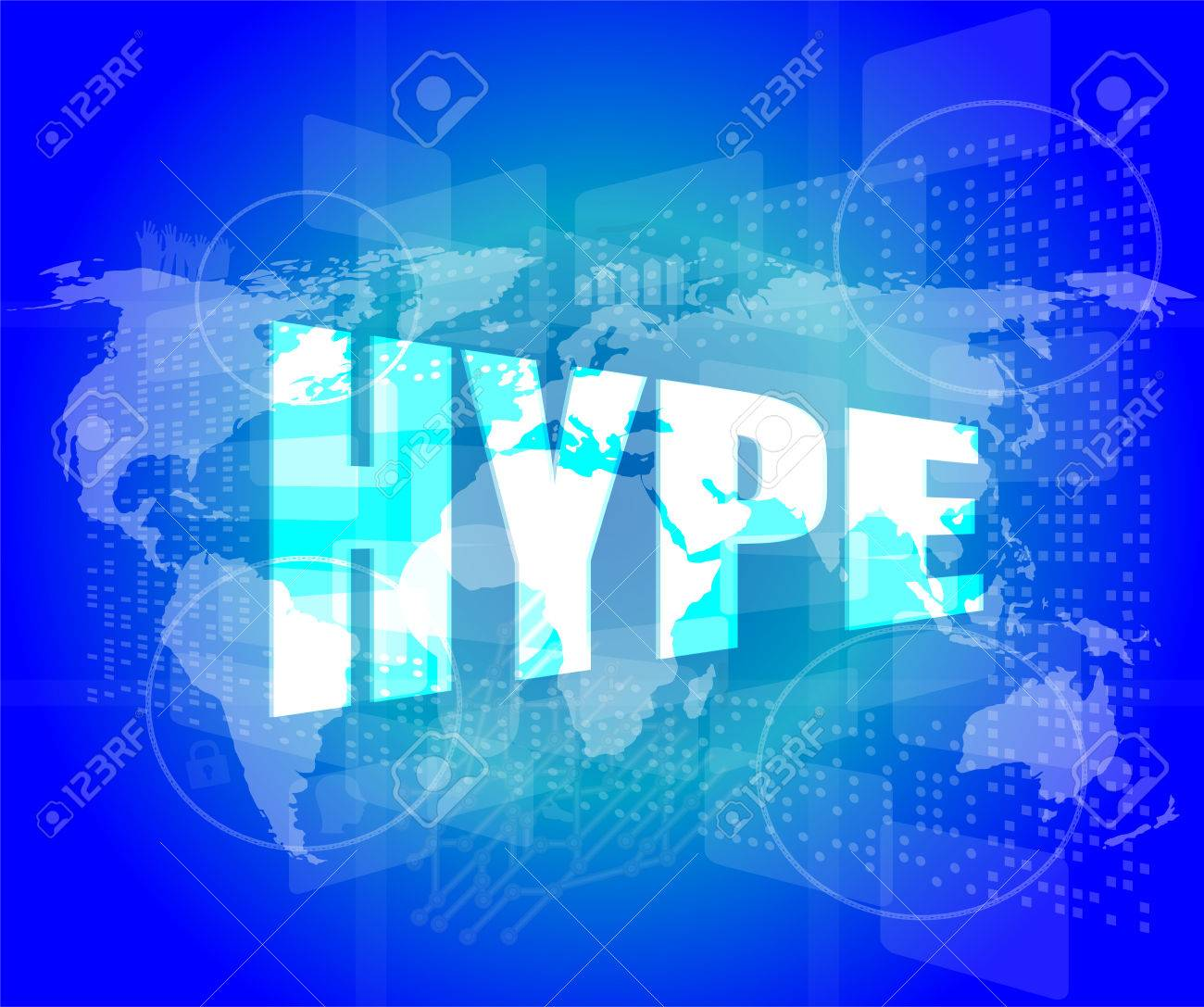 Hype word on digital screen background with world map stock photo hype word on digital screen background with world map stock photo 33348794 gumiabroncs Choice Image